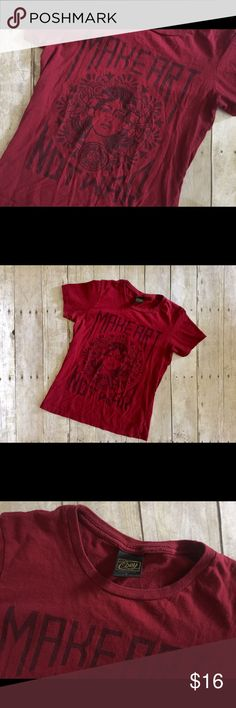 Make Art Not War - Obey Tee Great propaganda Tee! Comfy and so boho! Made by Obey - Size small- Pre loved but lots of life still left! 100% cotton Obey Tops Tees - Short Sleeve