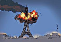 Paris, 13 novembre 2015: stato d'emergenza nazionale. (Chappatte, Svizzera)