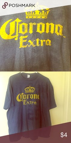 Corona T Shirt Men's Corona T Shirt, lightly worn Corona Shirts Tees - Short Sleeve