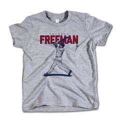 Freddie Freeman MLBPA Officially Licensed Atlanta Toddler and Youth T-Shirts 2-14 Years Freddie Freeman Score R