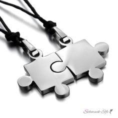 Partner Ketten Puzzle  Silber 316 L Edelstahl inkl....