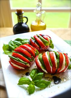 Caprese Salad with a Fresh New Presentation :http://www.italianbellavita.com/2015/07/caprese-salad-fresh-new-presentation/