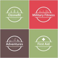 Ozonefit Logos For Various Services