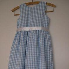 Charlotte Blue and White Seersucker Dress | wowthankyou.co.uk