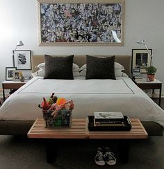 I dig the night stands and bed frame.