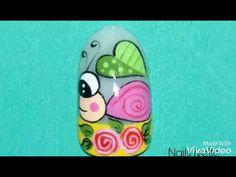 Decoración de uñas con caracol - YouTube Nail Designs, Nails, Youtube, Flower, Tutorials, Fingernails Painted, Decorations, Nail Salon Decor, Nail Desighns