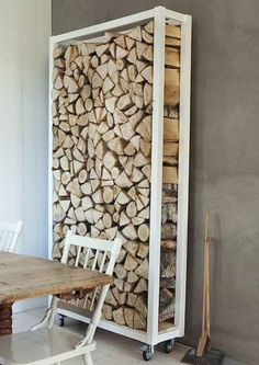 Top 31 Super Smart DIY Storage Solutions For Your Home Improvement DIY Outdoor Firewood Storage Outdoor Firewood Rack, Firewood Holder, Indoor Firewood Storage, Buy Firewood, Firewood Logs, Diy Casa, Into The Woods, Interior Decorating, Interior Design
