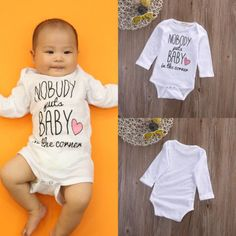 Newborn Baby boys girls letter Nobody Bodysuits onesie Infant Babies Kids Cute Cotton Bodysuit one-pieces Outfits Kids Clothing #>=#>=#>=#>=#> Click on the pin to check out discount price, color, size, shipping, etc. Save and like it!