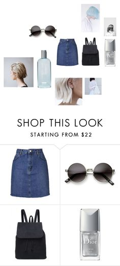 """Untitled #1281"" by kajdie ❤ liked on Polyvore featuring Topshop, ZeroUV, Christian Dior, Fashion Fair and Prada"