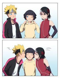 Naruto Kakashi, Naruto Shippuden Sasuke, Anime Naruto, Boruto And Sarada, Naruto Sasuke Sakura, Naruto Comic, Wallpaper Naruto Shippuden, Naruto Cute, Naruto Girls