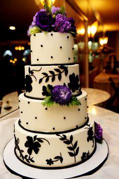 Our cake!  By Dessert Deli.  Photography by Elizabeth Pellette