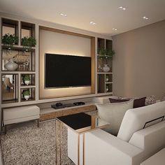 Arquitetura, Design & Decor ✨: Painel de TV divoo com nichos espelhados!!! Proposta super intimista! É muito charme não é mesmo?! ...
