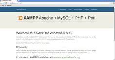 XAMPP Dashboard on web browser