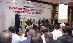 PRESENTA SILVANO AUREOLES PROGRAMA ESTATAL DE EVALUACIÓN Y MEJORA EDUCATIVA