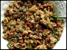 Warm Bean Salad with Bacon Vinaigrette