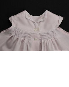 Carolyn - A smocked & embroidered diaper shirt