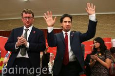 Labour Party leader Ed Miliband delivers a speech in Cumbernauld, Lanarkshire as he goes on the campaign trail for the Scottish independence referendum.