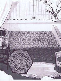 Vintage Crochet PATTERN for Bedspread 6013 Star by BlondiesSpot