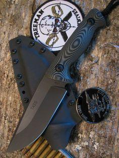 Treeman Knives TASS Seal Team Tactical Combat Knife Blade OD Black G-10