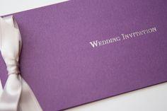 Cadburys Purple & Silver Foiled Chequebook Invitation - Vintage Wedding Stationery Scotland - VOWS Award Nominee 2013 Purple Wedding Stationery, Vintage Wedding Invitations, Wedding Invitation Design, Invitation Ideas, Vows, Scotland, Wedding Flowers, Wedding Ideas, Silver