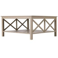 Saltire Large Square Coffee Table With Storage