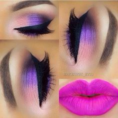 I Really Love It  What About You Guys  Done By Very Amazing Mua @makeupby_ev21  #cute #pretty #purple #pink #pinklips #eyeshadow #purplepink #eyemakeup #love #it #very #much #such #a #sweet #look #repost #by #featuring_mua