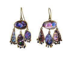 Judy Geib | Lovely Strange Opal Earrings in Earrings Dangles at TWISTonline