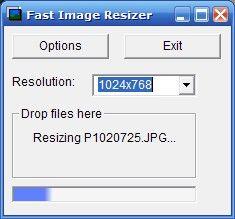 Fast Image Resizer Screenshot: es una aplicación gratuita que redimensiona fotografías. #FB