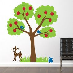 Apple Tree Wall Decal  Woodland Nature Children by JaneyMacWalls, $98.00