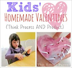 Kids' Homemade Valentines :: Think Process AND Product -- Are your kids making their own valentine's this year?