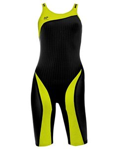 Michael Phelps XPRESSO Openback Kneeskin - Black and Yellow