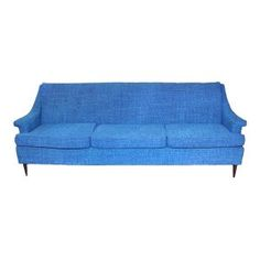 The Barbara: Royal Blue MidCentury Sofa    Something Vintage Rentals: Vintage rentals and handcrafted pieces for weddings and events in DC, Maryland, and Virginia   
