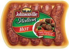 Johnsonville Hot Italian Sausage Links This is my favorite sausage ever use it in my spaghetti !!