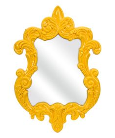 Look what I found on #zulily! Finely Yellow Baroque Wall Mirror #zulilyfinds