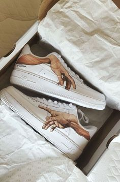 painted shoes emillyyhall - painted nike air force 1 Source by berniceullrich - Custom Painted Shoes, Custom Shoes, Customised Shoes, Nike Custom, Custom Af1, Hand Painted Shoes, Custom Sneakers, Platform Sneakers, Sneakers Fashion