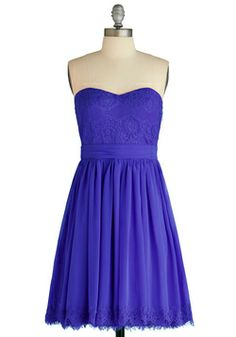 I might like this one even better!  The color is hot!!  Chic My Name Dress in Cerulean, #ModCloth