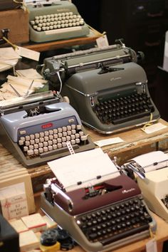 Oblation's typewriter collection via The Paper Chronicles