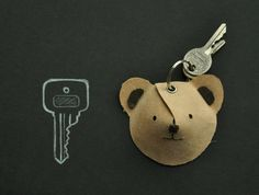 These DIY animal keychains via Between the Lines would be easy to make and fun to give.