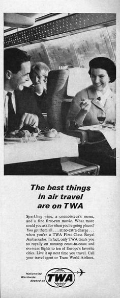 Awesome vintage airline posters and classic airline travel advertisements that will make you wish you could go back in time and visit the golden age of air travel. Retro Airline, Airline Travel, Air Travel, Vintage Travel Posters, Vintage Ads, Funny Vintage, Vintage Photos, Old Planes, Air Festival