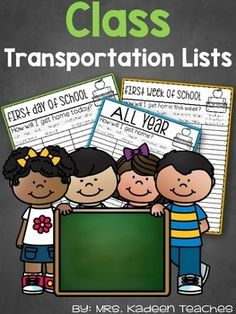 """These free master lists are for parents to write how their child will get home on the first day of school or for the whole year. Pass out during """"Meet the Teacher"""" or """"Open House"""" so you can make sure students get home safe on the first day of school which is always busy."""