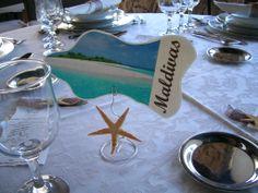 Marcador de mesa tema mar
