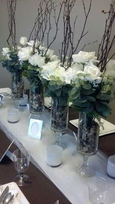 center pieces. maybe not for a wedding but for a bridal shower or high tea with different pastel colors as well.