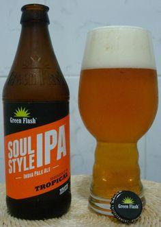 Cerveja Soul Style, estilo India Pale Ale (IPA), produzida por Green Flash Brewing, Estados Unidos. 6.5% ABV de álcool.