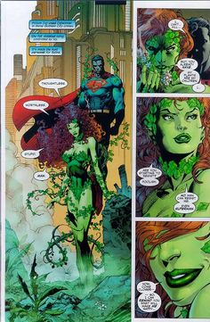 Pamela Isley as Poison Ivy and Kal-El aka Clark Kent as Superman (interior page to Batman Vol. 1 #612)