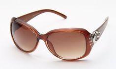 Kyra Womens Rhinestone Fashion Sunglasses in Brown/Leopard Kyra. $5.75