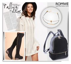 """""""ROMWE 8"""" by melissa995 ❤ liked on Polyvore"""