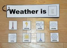 Weather themed Flip Strips. Complete the sentence, read the sentence, flip the strip and repeat.