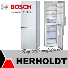 Have a look at this stylish high quality Bosch Fridge and Deep freeze combo, it has anti frost and A+ energy efficiency technology, saving power whilst keeping your fruit and veg fresher for longer. Bosch Appliances, Kitchen Appliances, Deep Freeze, Fruit And Veg, Energy Efficiency, French Door Refrigerator, Tiny Homes, Inventions, Frost
