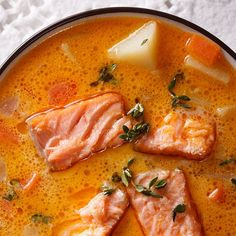 If needed, add some boiling water to make sure that the fish are in a great bed of liquid. Because a broad array of fish is necessary, you will have t. Bouillabaisse Recipe, Soup Recipes, Cooking Recipes, Chowder Soup, Good Food, Yummy Food, Shellfish Recipes, Healthy Slow Cooker, Gastronomia
