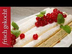 Kardinalschnitten (Eveline Wild) - YouTube Eveline Wild, Austrian Recipes, Austrian Food, Berries, Cheesecake, Make It Yourself, Ethnic Recipes, Desserts, Youtube